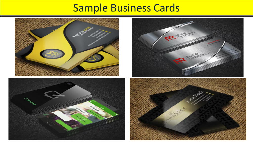 2018 YCDB Quicktips...dealers need quality business cards